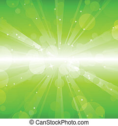 abstract green lights background