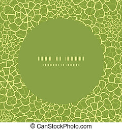 Vector abstract green natural texture circle frame seamless pattern background