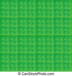 Vector abstract green seamless pattern - square tiles