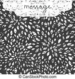 abstract grunge chalk bursts blackboard horizontal border frame seamless pattern background