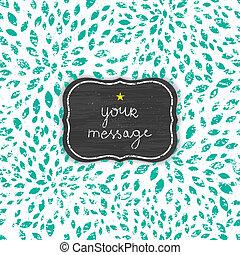 abstract grunge green chalk bursts blackboard frame seamless pattern background