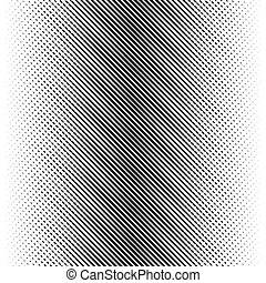 Vector abstract halftone black background. Gradient retro pattern design. Monochrome graphic