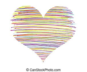Vector abstract heart