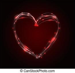 Vector abstract heart illustration