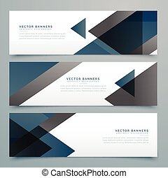 vector abstract horizontal business banner set