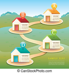 vector abstract house infographics