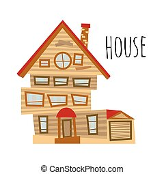 Vector abstract house