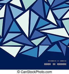Vector abstract ice chrystals horizontal frame seamless...