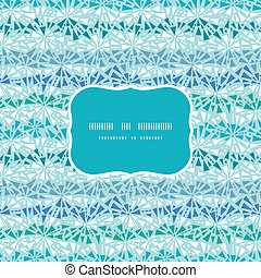 Vector Abstract ice chrystals texture frame seamless pattern...