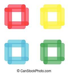 vector abstract icon, logo for company