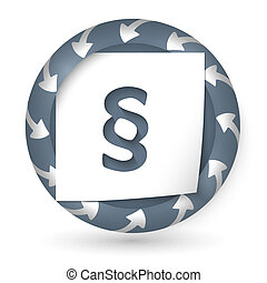 vector abstract icon with arrows and paragraph