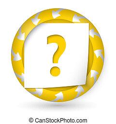 vector abstract icon with arrows and question mark