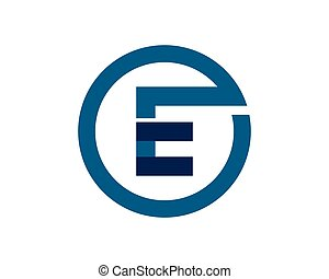Vector - Abstract icons for letter E logo