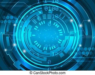 vector, abstract, illustratie, innovation., achtergrond, plank, circuit, toekomst, technologie