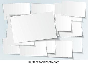 vector, abstract, -, illustratie, papier, achtergrond, witte , sticker