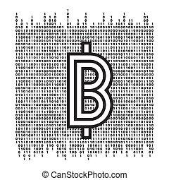 Vector abstract Illustration. Bitcoin technology