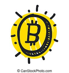Vector abstract illustration bitcoin technology
