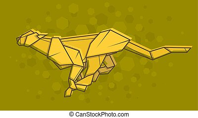 Vector Abstract Illustration Cheetah
