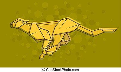 Vector Abstract Illustration Cheetah