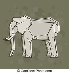 Vector abstract illustration elephant.