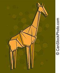 Vector abstract illustration giraffe.