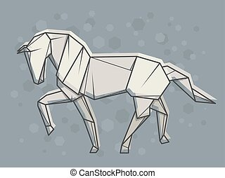 Vector abstract illustration horse.