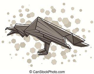 Vector abstract illustration raven.