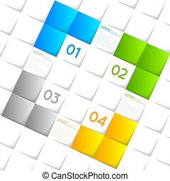vector abstract infographic template, squares