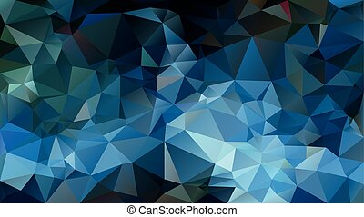 vector abstract irregular polygon background - triangle low poly pattern - blue green teal peacock color