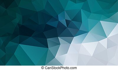vector abstract irregular polygon background - triangle low poly pattern - blue green teal turquoise grey white color