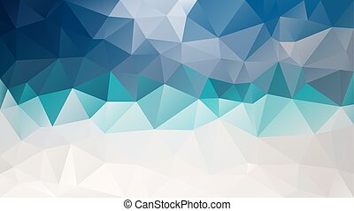 vector abstract irregular polygon background - triangle low poly pattern - blue, turquoise, teal, gray and beige color