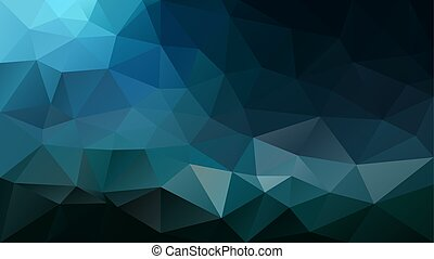 vector abstract irregular polygon background - triangle low poly pattern - color black teal ocean blue
