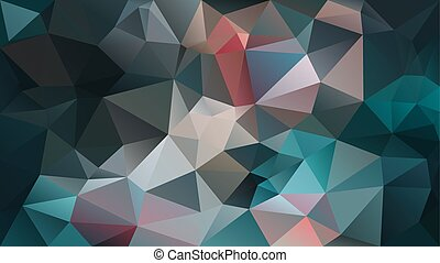 vector abstract irregular polygon background - triangle low poly pattern - color teal blue turquoise gray orange