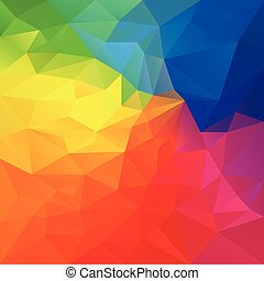 vector abstract irregular polygon background with a triangle...