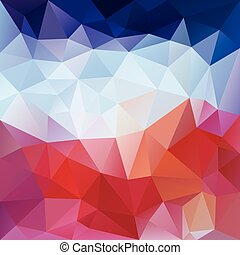 vector abstract irregular polygon background with a triangular pattern in red, pink and blue colors