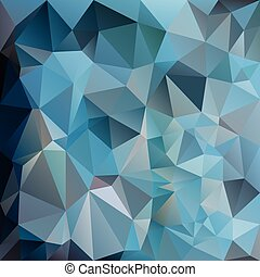 vector abstract irregular polygon square background - triangle low poly pattern - cold blue teal gray color