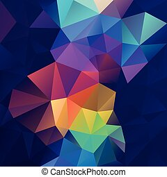 vector abstract irregular polygon square background -...