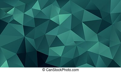 vector abstract irregular polygonal background - triangle low poly pattern - blue, green, aqua, teal color