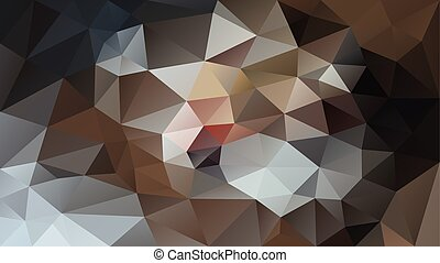 vector abstract irregular polygonal background - triangle low poly pattern - brown, beige, gray, indian red, rusty, ochre, sand, tan, bronze, taupe and black color