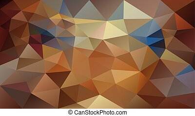 vector abstract irregular polygonal background - triangle low poly pattern - brown beige taupe camel caramel color