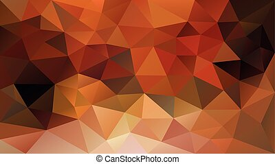 vector abstract irregular polygonal background - triangle low poly pattern - fall autumn color yellow, orange, ochre, rusty red, khaki and brown