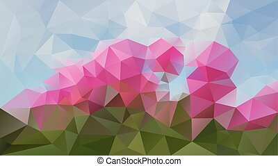 vector abstract irregular polygonal background - triangle...