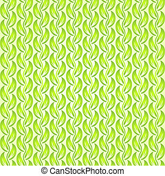 Vector abstract leaf seamless pattern with ethnic ornament