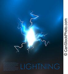 Lightning bolt energy background. EPS10