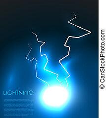 Vector abstract lighning background - Lightning bolt energy ...