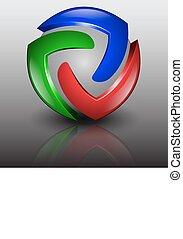 Vector abstract logo 3d illustration