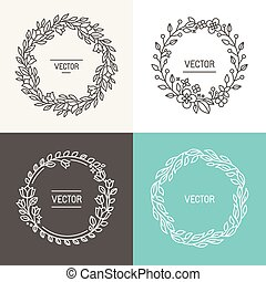 Vector abstract logo design templates with copy space for...