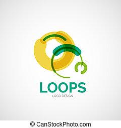 Vector abstract logo design