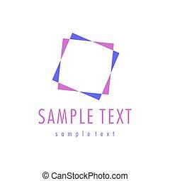 Vector abstract logo design.