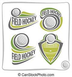 Vector abstract logo Field Hockey Ball